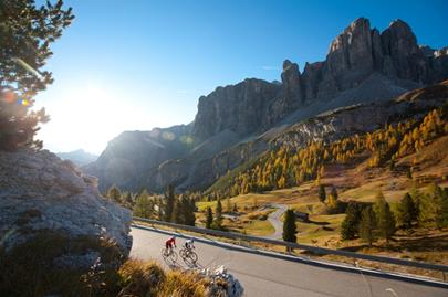 By road bike to Passo Gardena/Grödner Joch